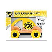 Iowa Hawkeyes Push & Pull Wood Toy