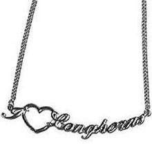 Texas Longhorns Heart Script Necklace
