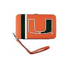 "Miami Hurricanes Distressed Wallet Wristlet Case (3.5"" X .5"" X 6"")"