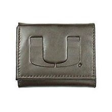 Miami Hurricanes Brown Leather Wallet