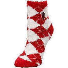 Indiana Hoosiers Arygle Fuzzy Lounge Socks