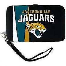 "Jacksonville Jaguars Distressed Wallet Wristlet Case (3.5"" X .5"" X 6"")"