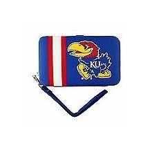 "Kansas Jayhawks Distressed Wallet Wristlet Case (3.5"" X .5"" X 6"")"