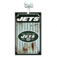 New York Jets Corrugated Metal Ornament