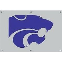Kansas State Wildcats 2' x 3' Applique Logo Fan Banner
