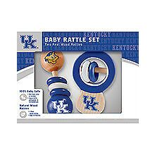 Kentucky Wildcats Wooden Baby Rattle Set