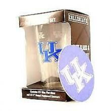 Kentucky Wildcats Pint and Coaster Set