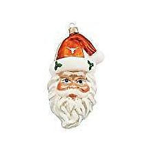 NCAA Texas Longhorns Santa Head Ornament