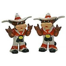 Texas Longhorns 2-Piece Porcelain Figure Ornament Set
