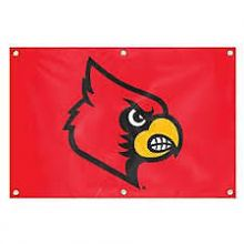Louisville Cardinals 2' x 3' Applique Logo Fan Banner