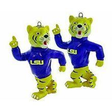 LSU Tigers 2-Piece Porcelain Figure Ornament Set