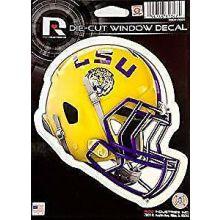 """LSU Tigers 6"""" Helmet Die-Cut Window Decal"""