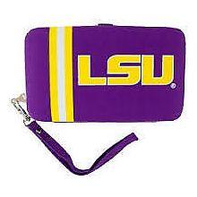"LSU Tigers Distressed Wallet Wristlet Case (3.5"" X .5"" X 6"")"