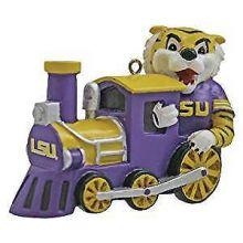 LSU Tigers Mascot Train Ornament