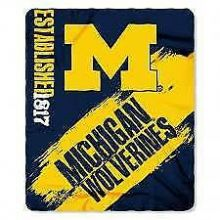 Michigan Wolverines Established Fleece Throw Blanket
