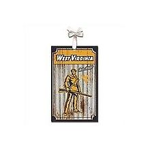 West Virginia Mountaineers Corrugated Metal Ornament