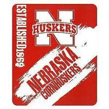 Nebraska Cornhuskers Established Fleece Throw Blanket