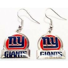 New York Giants Bar Style Dangle Earrings