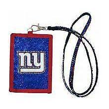 New York Giants Beaded Lanyard I.D. Wallet