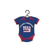 New York Giants Baby Bodysuit Ornament