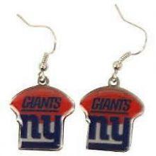 New York Giants Football Style Dangle Earrings