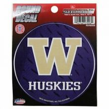 "Washington Huskies 4"" Round Vinyl Decal"