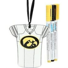 Iowa Hawkeyes Personalizable Jersey Ornament with Team Color Markers