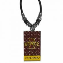 Iowa State Cyclones Diamond Plate Rope Necklace, 20-Inch