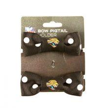 Jacksonville Jaguars Bow Pigtail Holders