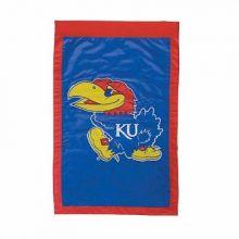 """Kansas Jayhawks Double Sided 28"""" X 44"""" Applique Flag"""