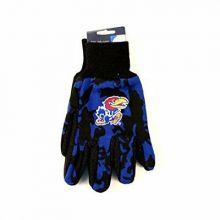 NCAA Kansas Jayhawks Team Color Camo Utility Gloves