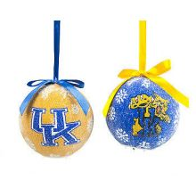 Kentucky Wildcats LED Ball Ornaments Set of 2