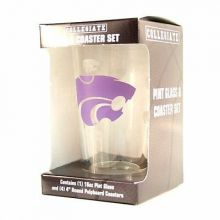 Kansas State Wildcats Pint and Coaster Set