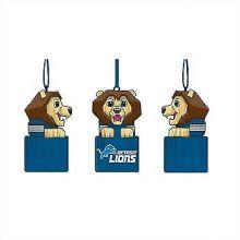 Detroit Lions Tiki Mascot Ornament