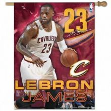 "Cleveland Cavaliers Lebron James 27"" x 37"" Vertical Flag"