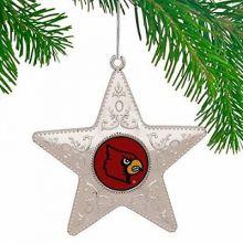 "Louisville Cardinals 4"" Silver Star Ornament"
