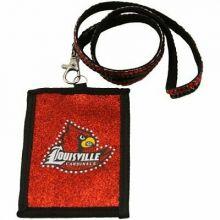 Louisville Cardinals Beaded Lanyard I.D. Wallet