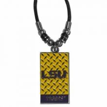 LSU Tigers Diamond Plate Rope Necklace, 20-Inch