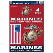 United States Marines Multi-Use Removeable 4 Decals