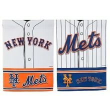 New York Mets 2 Sided Suede Foil Garden Flag