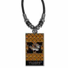 Missouri Tigers Diamond Plate Rope Necklace, 20-Inch