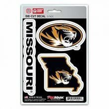 Missouri Mizzou Tigers Die Cut 3 Pack Decals