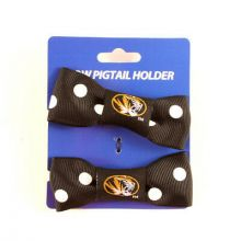 Mizzou Tigers Bow Pigtail Holders