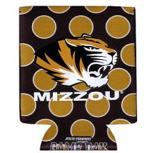 University of Missouri Mizzou Tigers Polka Dot Can Cooler Koozie