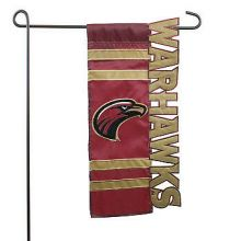 University of Louisiana Monroe Applique Sculpted Garden Flag, 9.3 x 18 inches