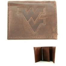 West Virginia Mountaineers Brown Leather Wallet