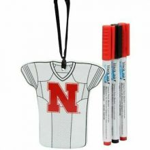 Nebraska Cornhuskers Personalizable Jersey Ornament with Team Color Markers