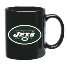 New York Jets 15 oz Black Ceramic Coffee Cup