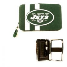 "New York Jets Distressed Wallet Wristlet Case (3.5"" X .5"" X 6"")"