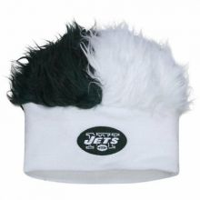 New York Jets Faux Fur Hair Flair Beanie